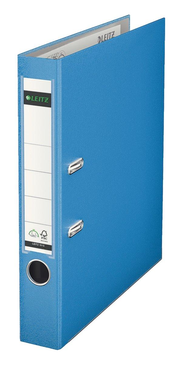 Leitz 10155030 - Archivador plástico con anillas (A4), color azul: Amazon.es: Oficina y papelería