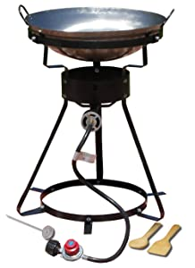 King Kooker 24WC Heavy-Duty 24-Inch Portable Propane Outdoor Cooker with 18-Inch Steel Wok