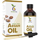 LAUNCH PRICE Natura Pur Organic Argan Oil 120ml - 100% native, cold pressed, vegan - from Morocco - anti-aging, anti-wrinkle serum for face, body, hair, skin, hands, nails