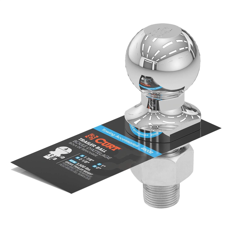 CURT Manufacturing 40002 1-7/8 In. Diameter Chrome Trailer Ball