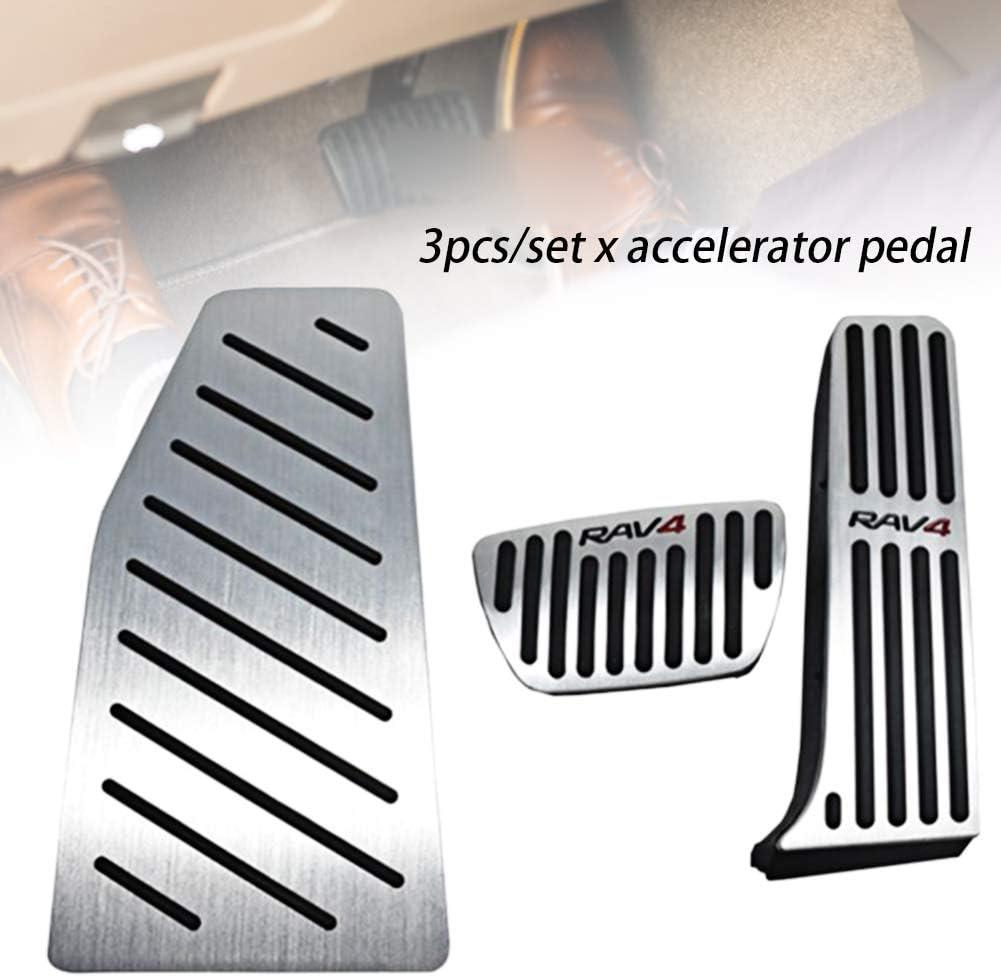 Antiscivolo Pedale acceleratore Pedali per Toyota RAV4 2020 Spachy Set di 3 Pezzi//Pedali Freno per Auto Pedale Freno poggiapiedi Argento Taglia Unica Not Null