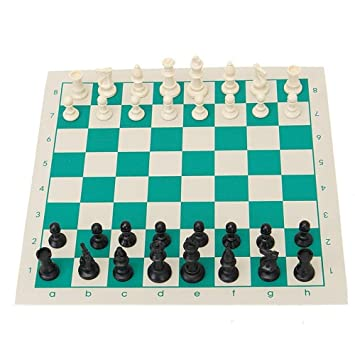 ARFA Sports Foldable Chess Set with Chess Mat & Solid Plastic Coin Pieces for Family Games and Tournament, Small Size, 1 Set of Chess.