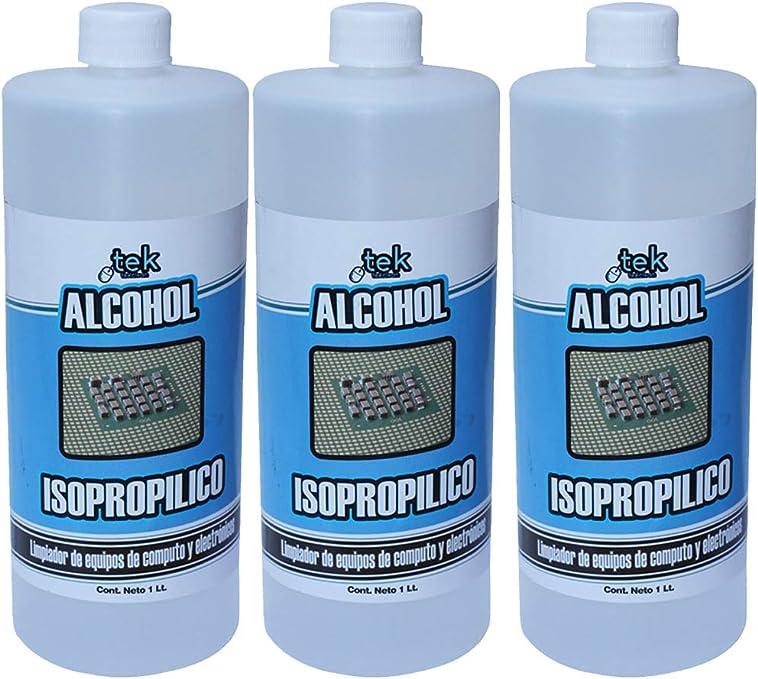 ALCOHOL ISOPROPILICO 1L LIMPIAR DESINFECTANTE VIRUS  EVAPORA SIN RESIDUOS