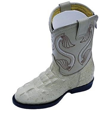24ab8fd491250 Amazon.com | Dona Michi Kids Baby Crocodile Print Genuine Leather ...