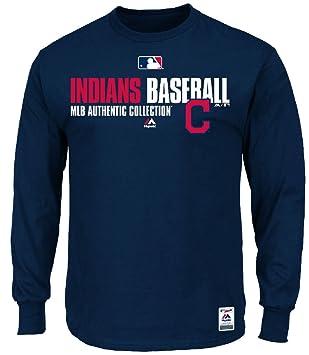 MLB Manga Larga Camiseta Cleveland Indians Team Favorite Authentic ...
