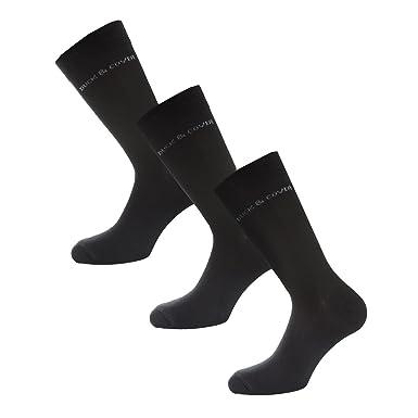 ec4923cd Mens Duck and Cover Mens Crimson 3 Pack Socks in Black - 6-11: Duck ...