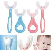 3 stuks alle afgeronde kinderen U-vorm tandenborstel, kinderen U-vormige tandenborstel voor kinderen 6-12 jaar, 360…
