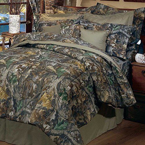 Realtree Timber Rod Pocket Drapes, 2 Panels, 2 Tie-Back ()