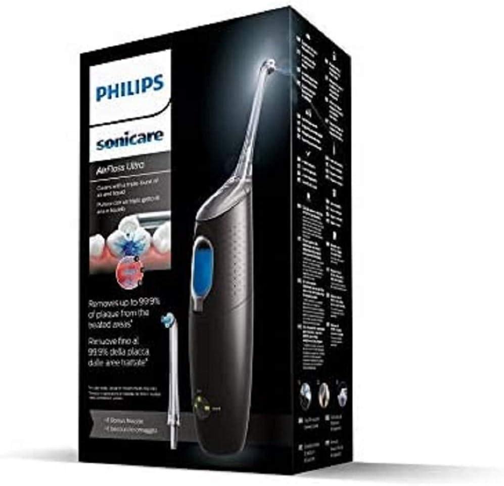 Philips Sonicare Airfloss Ultra Hx8438/03 Irrigador Dental, Hasta un 99.9% de Eliminación de la Placa, 2 Boquillas Incluidas