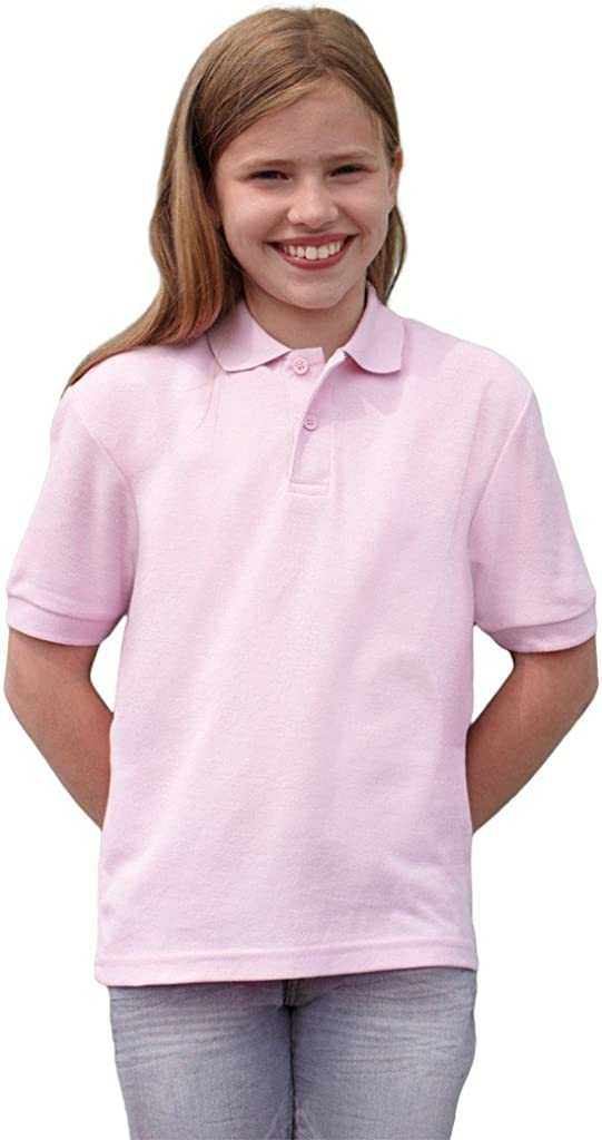 Fruit of the Loom Childrens Poly//Cotton Pique Polo Shirt