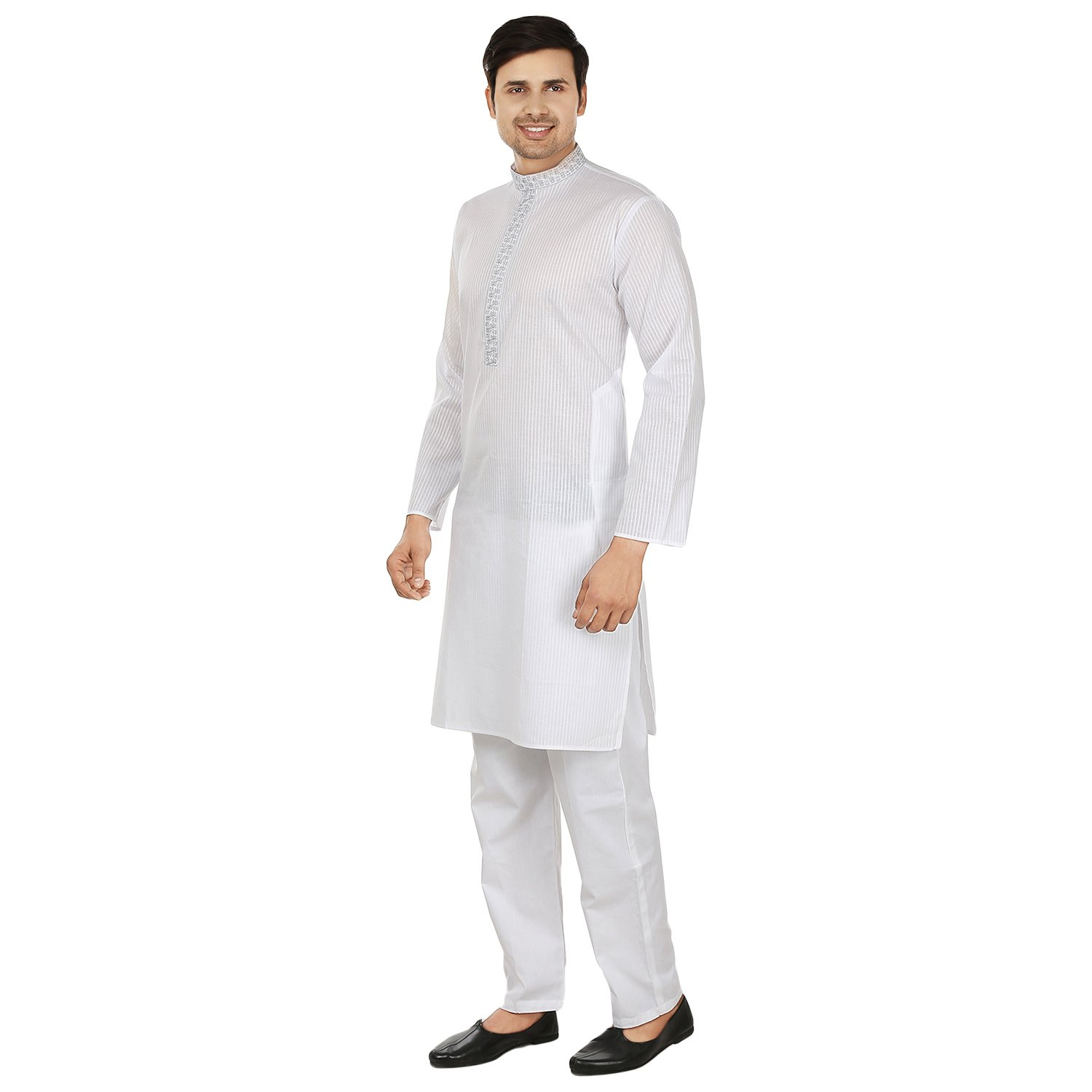 Maple Clothing Mens Kurta Pajama Cotton Embroidered Indian Apparel   Amazon.ca  Clothing   Accessories ef0715b19