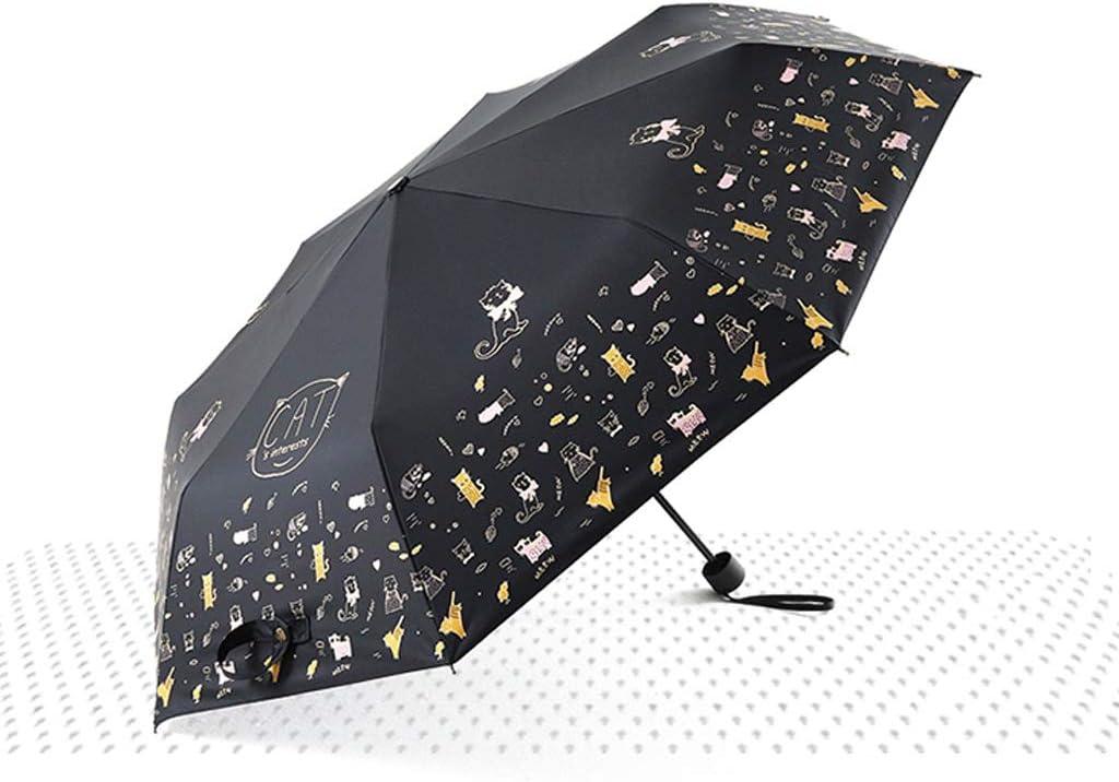 Black Umbrella Anti-UV Rain and Rain Dual-use Sunshade 8 Bone Umbrella Stand Umbrella