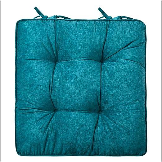 SU-AMEI Cojines para sillas, Almohadillas de Asiento Acolchadas Acolchadas con Lazos - for Patio Exterior Jardín Restaurante Oficina - En 8 Colores - 42 * 42cm (Color : B): Amazon.es: Hogar