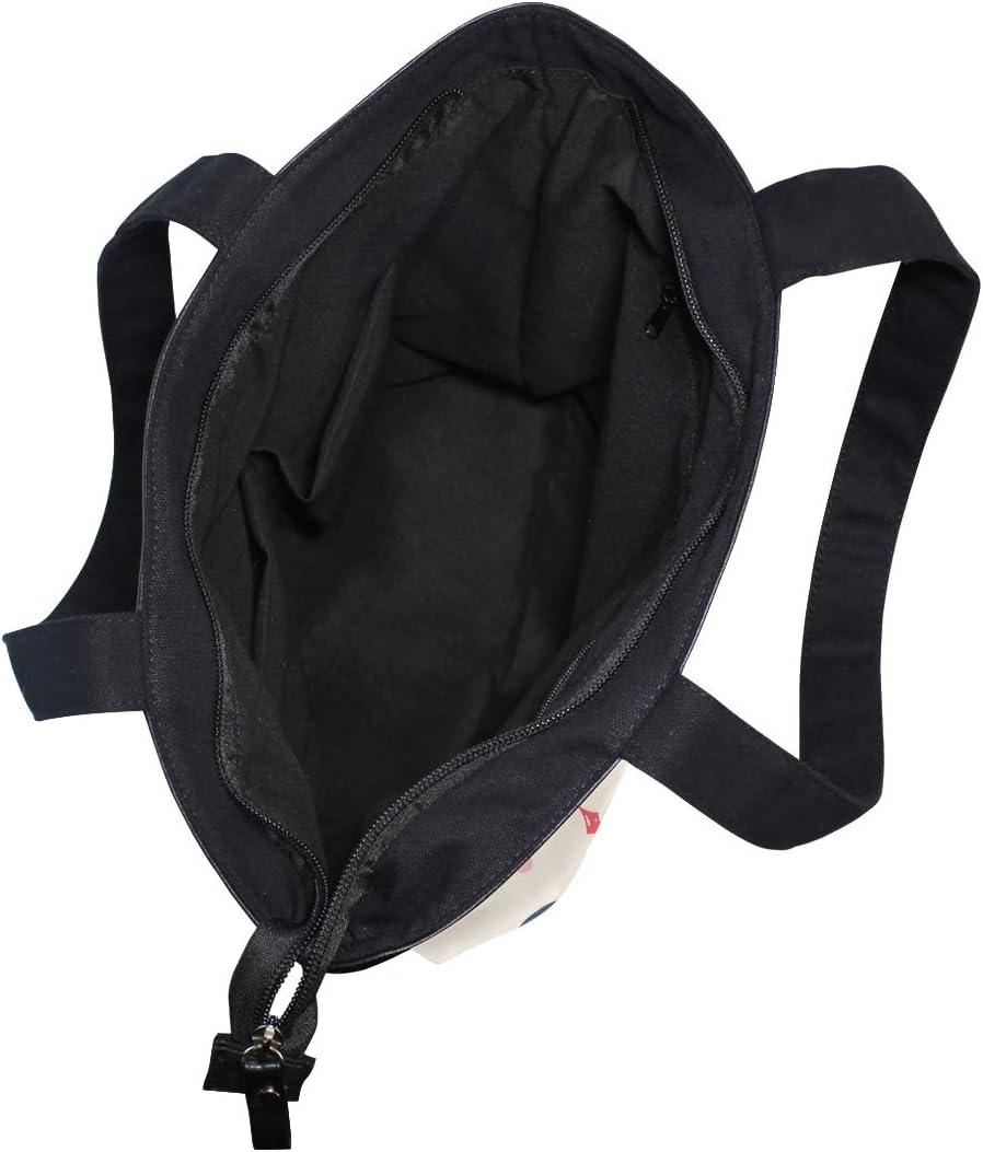 Love Cute Penguin Canvas Tote Bag,Fashion Large Capacity Handbag for Women Travel