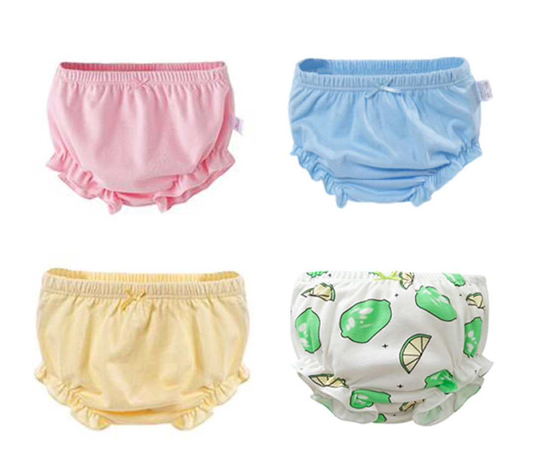 Dr.Sosmonki 4 Pack Baby Underwear Cotton Briefs Panties for 0-6T Toddler Boys Girls