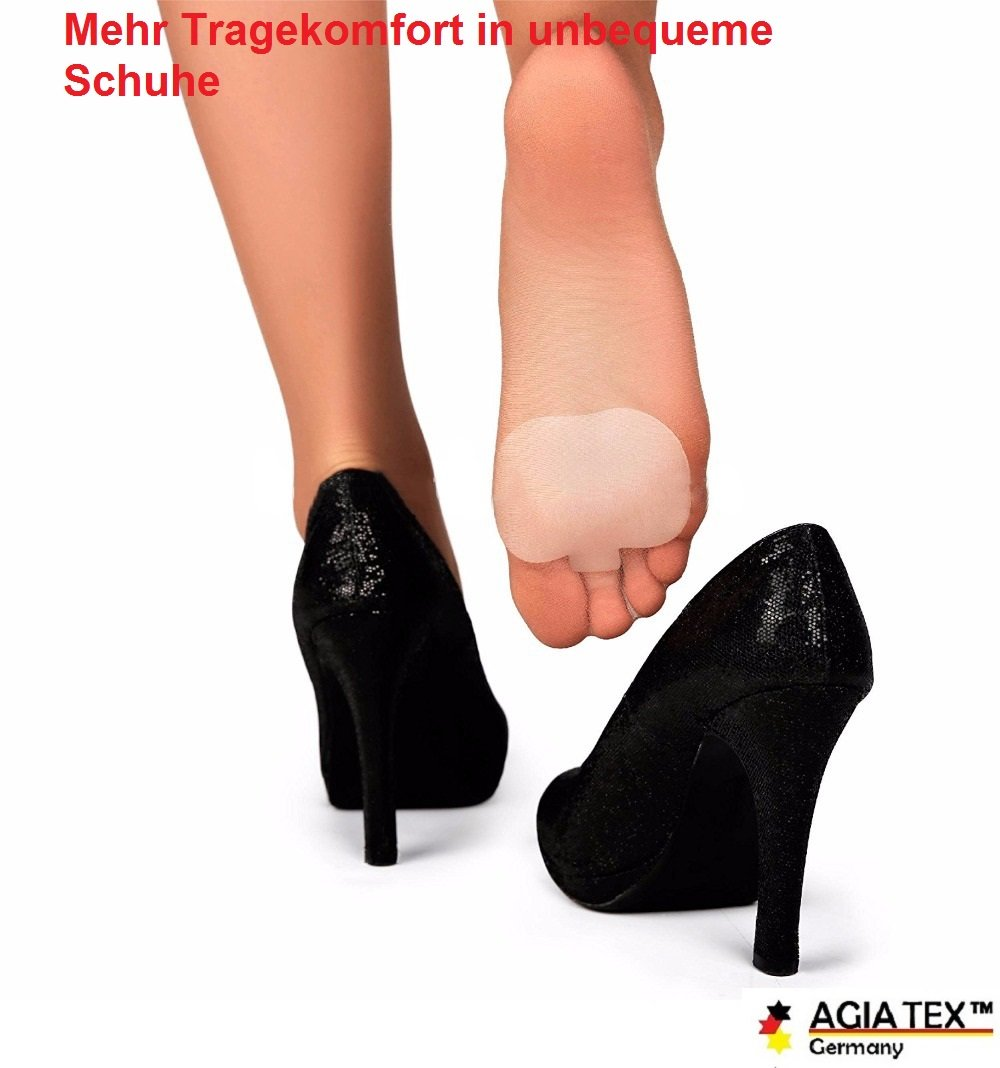 AGIA TEX Germany Damen Fersenhalter aus Silikon für High Heels anti slip 6 Paar