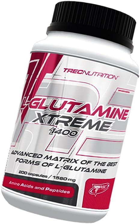 L-Glutamina Extreme - matriz de glutamina innovador - Quick Síntesis proteína muscular y Ultimate recuperación - Trec Nutrition (100caps / 200caps / ...