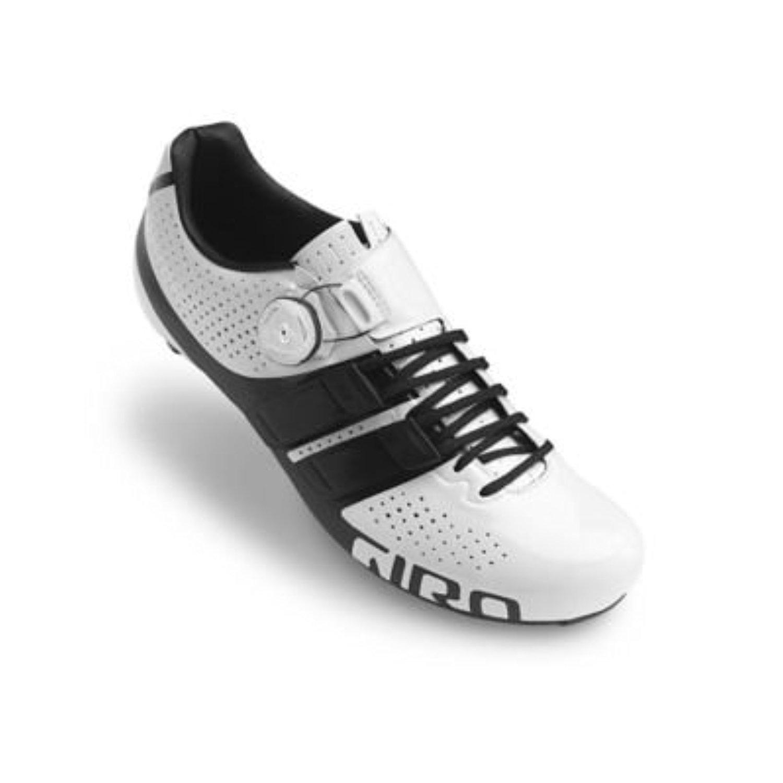 Giro Factor techlace靴& e-tipグローブバンドル 43.5 ホワイト/ブラック B01M4KC8QO