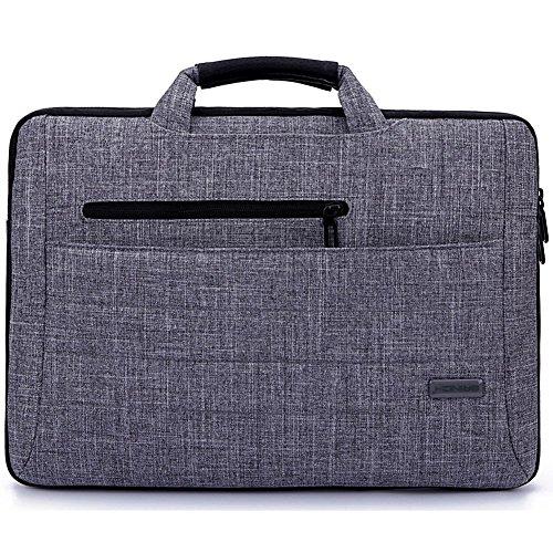 Vanwalk Multi-functional Bolsa de Transporte, Bolsa de Mensajero de Tela de Traje para 15-15.6 inches Laptop / Tablet / Macbook / Notebook / Ordenador, Gris