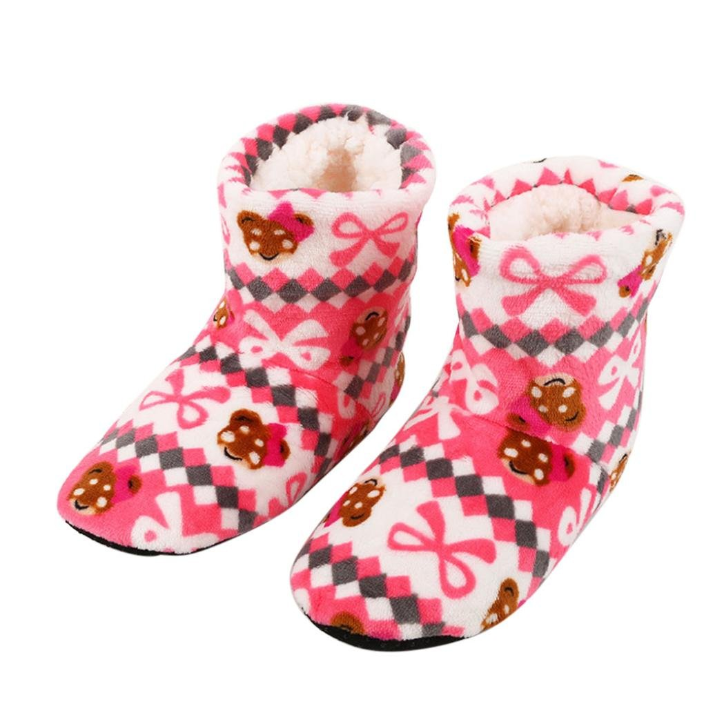 Christmas Socks, Fcostume Women Ladies Cotton Warm Indoor Slippers Soft  Plush Shoes (Red): Amazon.co.uk: Garden & Outdoors