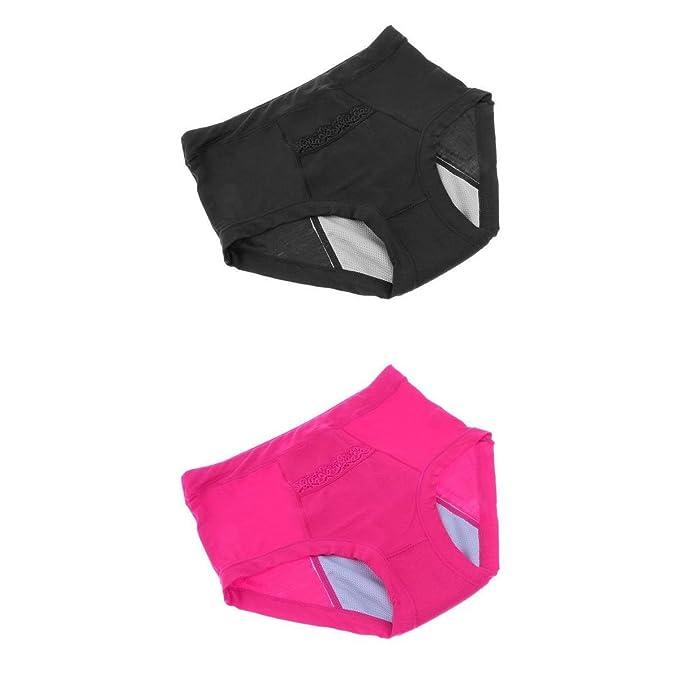 Magideal Pack de 2pcs Bragas de Período Protectivo Ropa Interior Protectora Menstrual A Prueba de Fugas