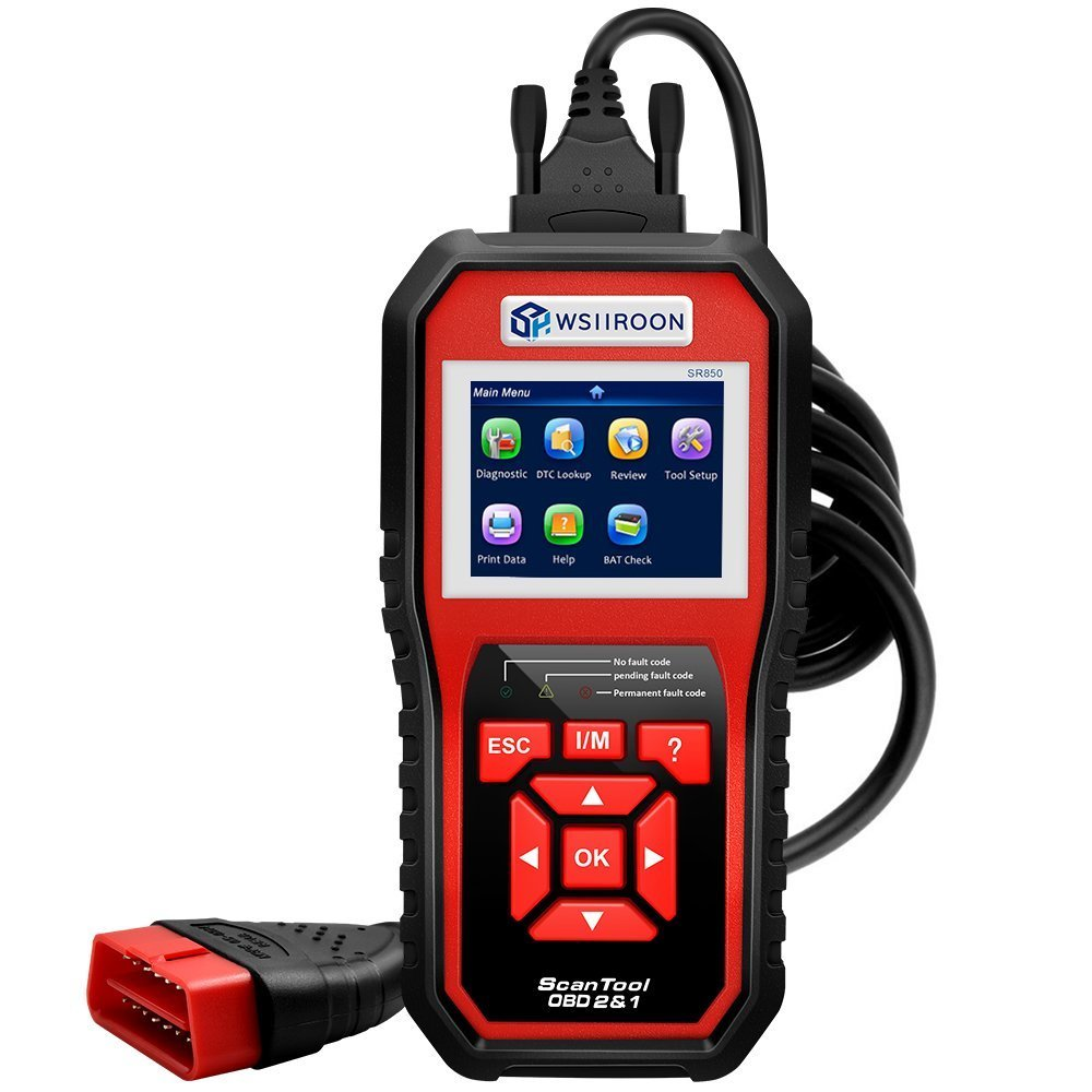 Professional OBD2 Scanner, Car Engine Fault Code Reader CAN Diagnostic Scan Tool with I/M Readiness