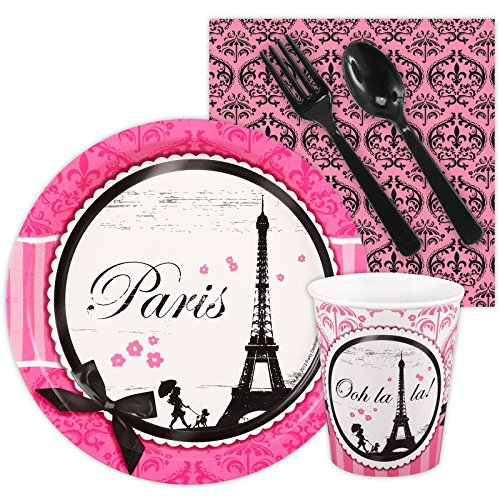 Paris Eiffel Tower Damask Party Supplies - Snack Party (Damask Party Invitation)