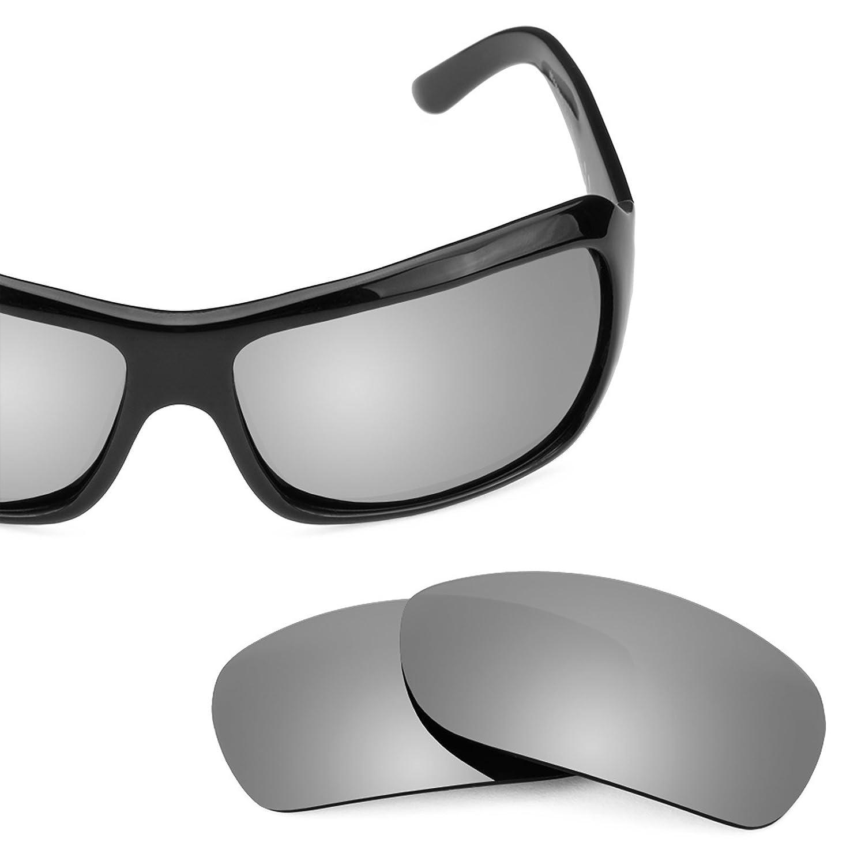 9962f7be19 Amazon.com  Revant Polarized Replacement Lenses for Maui Jim Palms 63mm  MJ111 Black Chrome MirrorShield  Sports   Outdoors