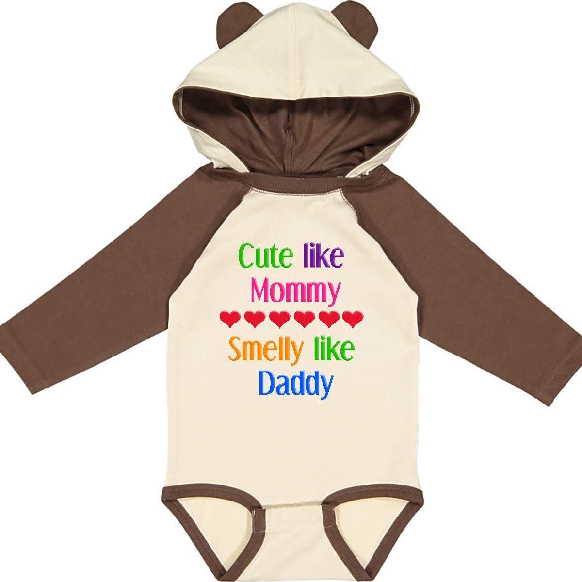 inktastic Cute Like Mommy Smelly Like Daddy Long Sleeve Creeper