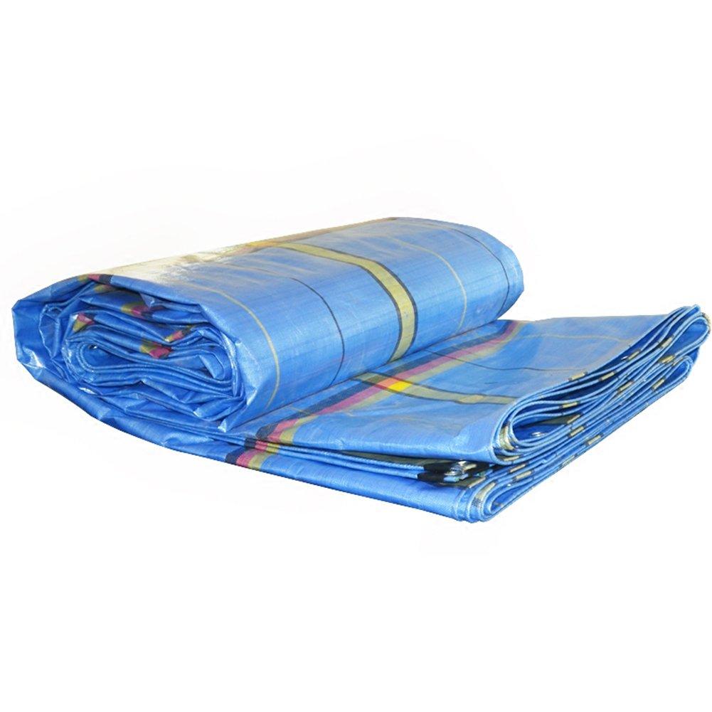 ZEMIN オーニング サンシェード ターポリン 防水 日焼け止め テント シート ルーフ 防塵の 軽量 ポリエステル、 ストライプブルー、 250G/M²、 15サイズあり (色 : Stripe blue, サイズ さいず : 8X12M) B07DB7C7QZ  Stripe blue 8X12M