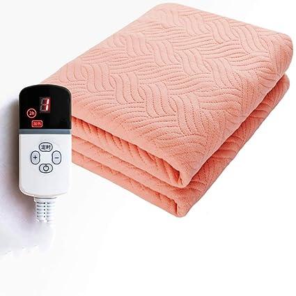 WYMNAME Doble Control Calienta Camas eléctrico, Impermeable Cálido Seguridad Calientacamas Timing Casa Dormitorio-D
