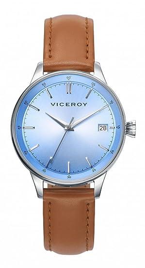 Viceroy Reloj Multiesfera para Mujer de Cuarzo con Correa en Cuero 40902-77: Amazon.es: Relojes