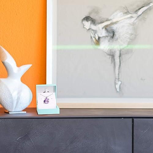 GEORGE /· SMITH Collier Femme Pendentif Collier Coeur Violet avec Cristal Swarovski Cadeau de Saint Valentin danniversaire Sp/écial Pour Femme //Petite Amie