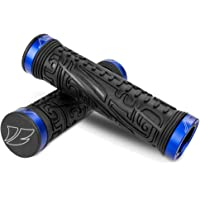 BV Bike Double Lock-On Handlebar Grips (Blue)