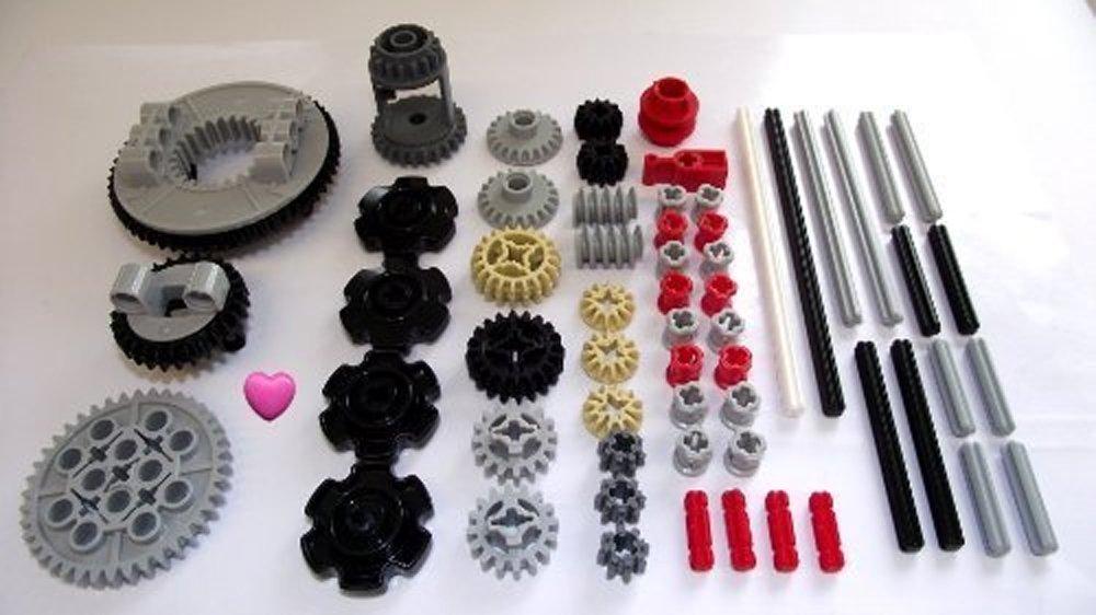 LEGO 50pc Technic gear /& axle SET