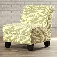 Havertown Elegant and Stylish Slipper Chair, Green