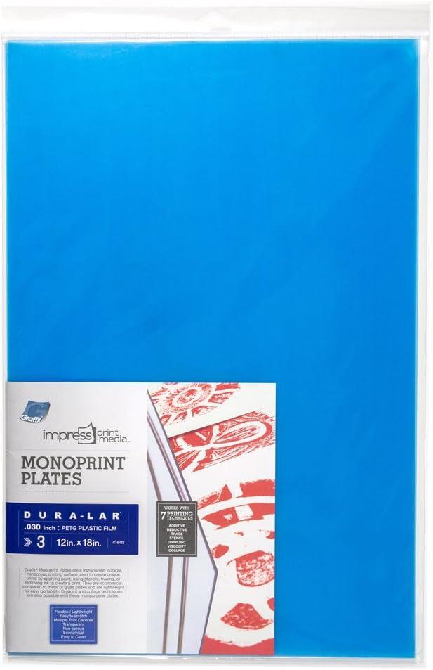 Grafix Impress Print Media Monoprint Plates 5 X 7 24 Pack