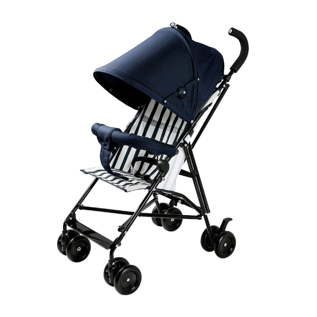 赤ちゃんのベビーカー軽量ポータブル折り畳み傘子供のベビーカー(ダークブルー)70 * 40 * 91センチメートル B07BVKZPL1