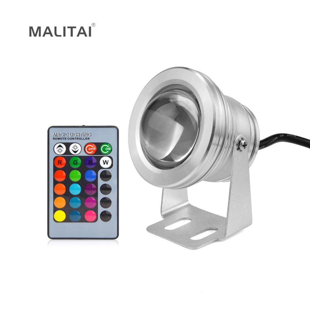 RGB, 10W : 10W RGB AC 12V LED Flood light IP68 Waterproof Floodlight Underwater Spotlight Bulb Outdoor Garden Fountain Pool Landscape lamp