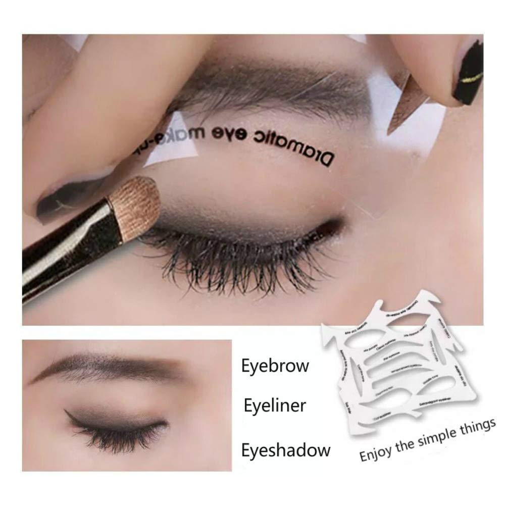 Quick Make-Up Stencils, eyebrows, eye shadow. A makeup tool with a variety of shapes.: Beauty