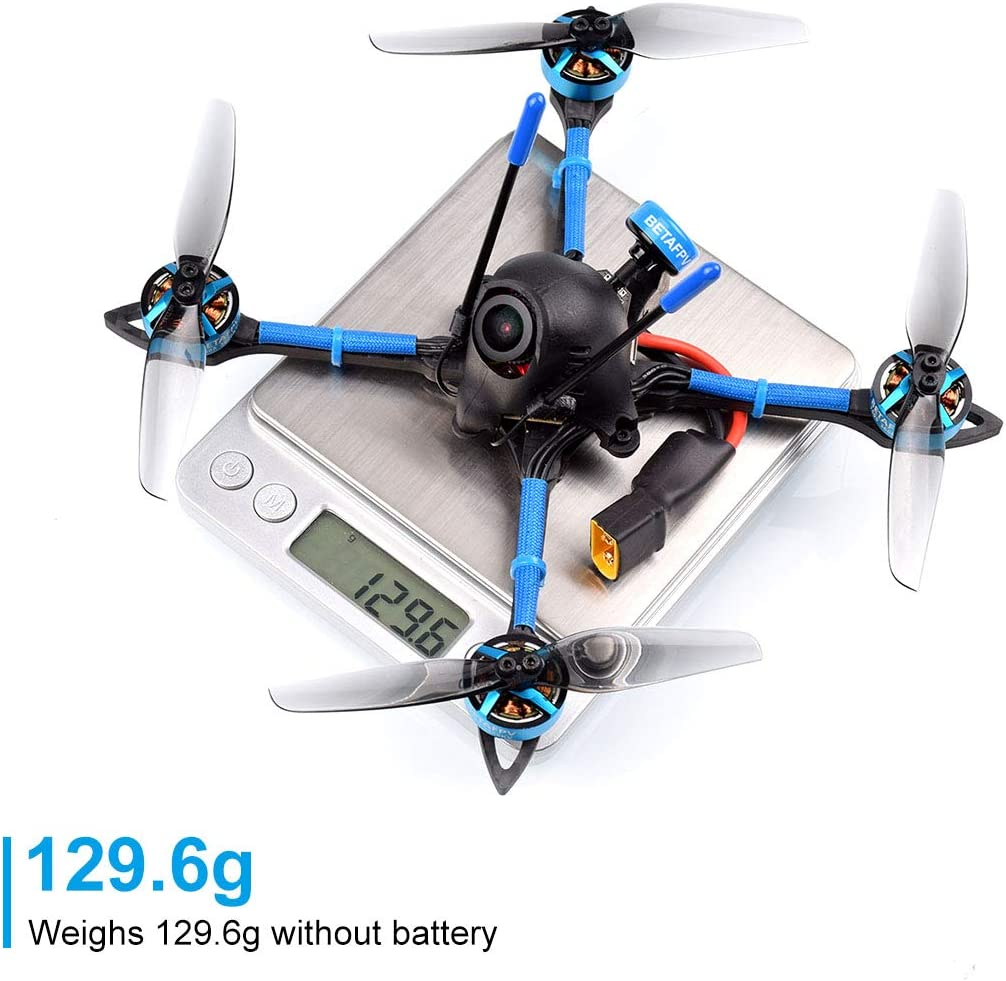 BETAFPV X-Knight 4inch 4S Brushless Toothpick Drone TBS Crossfire with F4 AIO 20A Toothpick FC 3600KV 1505 Motor Caddx Ratel Camera A01 VTX FPV Racing Quad
