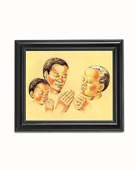 Amazon.com: African American Black Three Generations of Men Praying ...