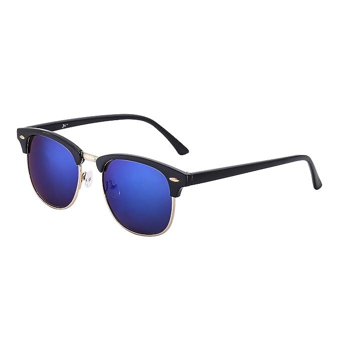 JM Retro Sonnenbrille Halb Randlos Browline Brillen Zum Dame Herre Verlaufsglas Linsen UV400(Schildkröte/Verlaufsglas Braun) KxCJ5LJ4
