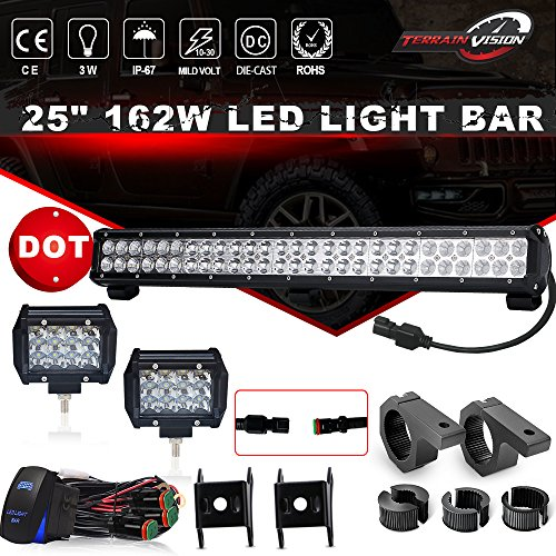 DOT Approved 25 In LED light bar W/Horizontal Bar Clamp Mounting Kit 1