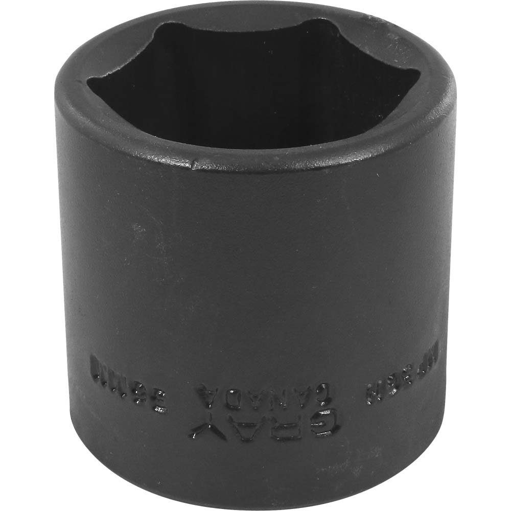 Gray Tools 36mm X 1/2-Inch Drive, 6 Point Standard Length, Impact Socket