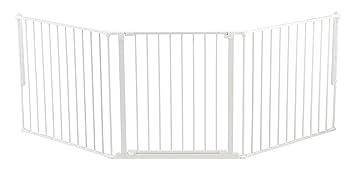 Baby Dan Konfigurationsgitter / Kaminschutzgitter Flex L, 90 - 223 cm - Hergestellt in Dänemark und vom TÜV GS geprüft, Farbe