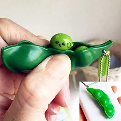 Fun Beans Squeeze Toys Pendants Anti Stressball Squeeze Funny Gadgets Fun Toys