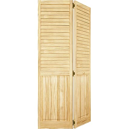 Bi-fold Door Louver Panel Plantation 1x30x80  sc 1 st  Amazon.com & Bi-fold Door Louver Panel Plantation 1x30x80 - Closet Storage And ...
