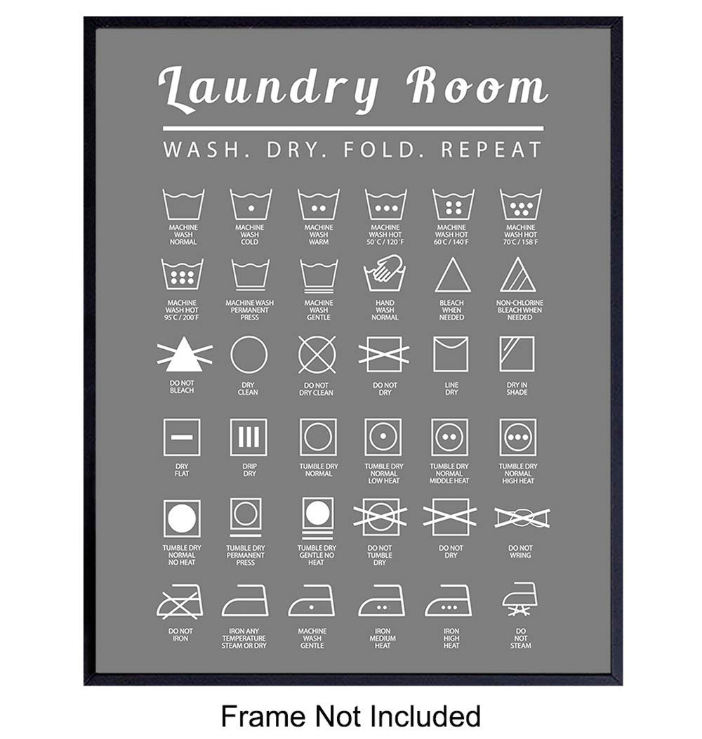 Laundry Room Wall Art Print - Typography Home Decor - Makes a Thoughtful Gift for Women, Men- 8x10 Photo - Unframed