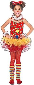 Disfraz de payaso de circo niña 7-9 años (122/134): Amazon.es ...